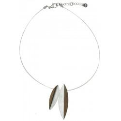 Halskette aus Holz lang 50 cm