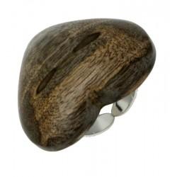 Herz Ring in Nussbaumholz