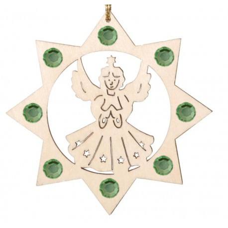Angel with crystals ornament