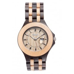 Wooden Watch for Man Two tone – Tiger - Dolfi Wooden Watch Company - Made in Italy