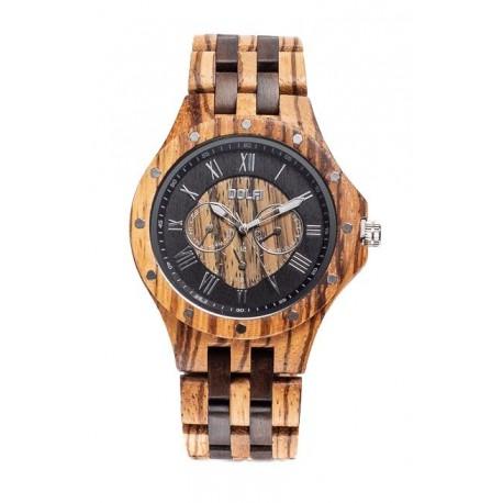 Wood Watch for Man Nut Two tone – Scorpio