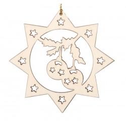 Gelaserte Weihnachtskugeln - Dolfi Weihnachtsschmuck Holzfiguren, Original Südtiroler Schnitzereien
