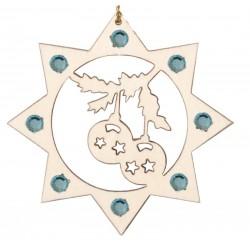 Le Palline Natalizie con cristalli Swarovski, albero di natale con addobbi in legno, Alto Adige