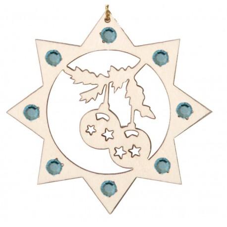 Die Weihnachtskugeln mit Swarovski Kristallen