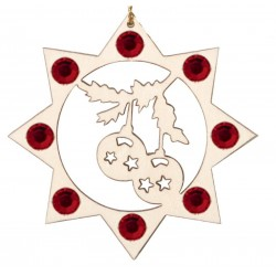 the Christmas Balls with Swarovski Crystal - Dolfi Wooden Ornaments to Paint - Made in Italy