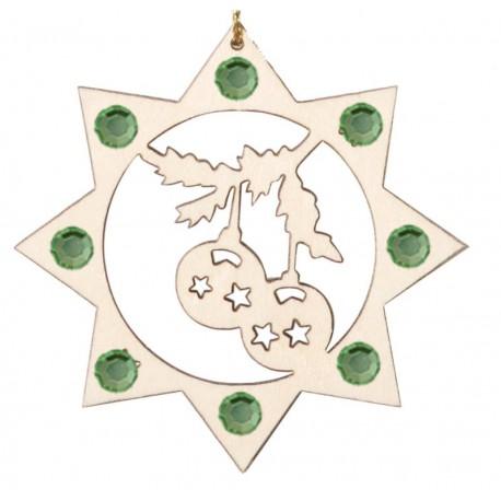 Die Weihnachtskugel Swarovski Kristallen