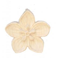 Fiore finemente scolpito in legno pregiato