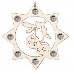 Weihnachtskugeln und Swarovski Kristallen