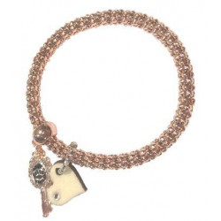 Bronze Bracelet with wood charms