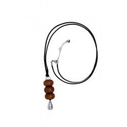Halskette Kette Holz aus Nussbaumholz