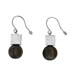 Earrings in wood Natural-Chic - Dolfi Luxury Wooden Jewellery - Made in Italy