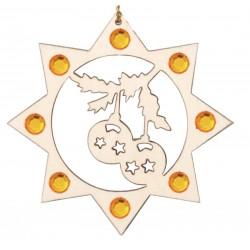 Die Weihnachtskugeln und Swarovski Kristallen