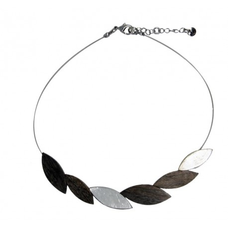 Wooden Grey Necklace