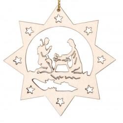 Die Krippenfigur | Dolfi Weihnachtsbaumanhänger Holz, diese Kreation ist in Gröden hergestellt