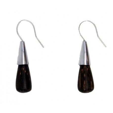 Ohrringe Natur Holz Hand Arbeit