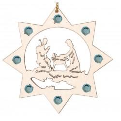 Die Heilige Familie mit Swarovski Kristallen