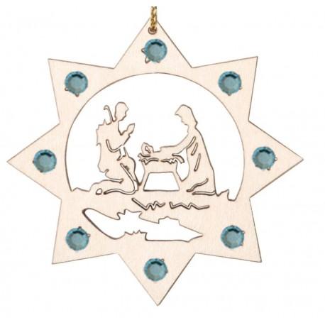 Baumbehang Heilige Familie mit Swarovski Kristallen
