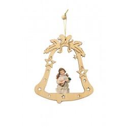 Addobbo campana con angelo - colorato a olio