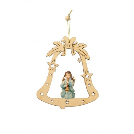 Decorazione con angelo scolpito in legno d'acero