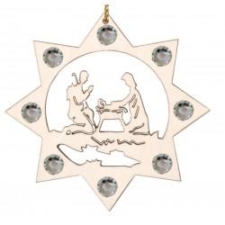 Addobbo Sacra Famiglia e i cristalli Swarovski