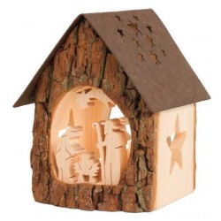 Light House Holy Family in wood