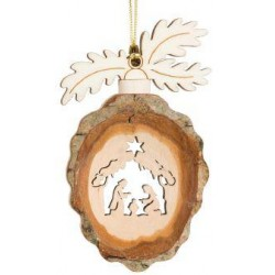 Pinecone with Holy Family to hang 9cm