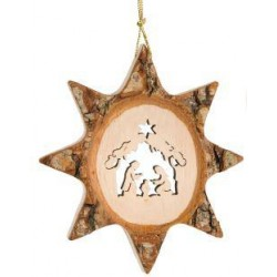 Star with Holy Family to hang 7,5cm
