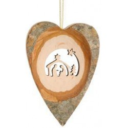 Heart with Holy Family to hang 7cm