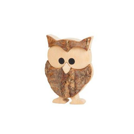 Wood Carve Owl and the Graduation a Perfect Gift as a Lucky Charm