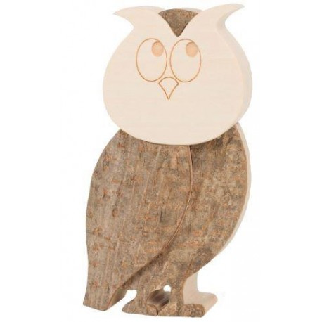 Owl in wood 4,5 inches