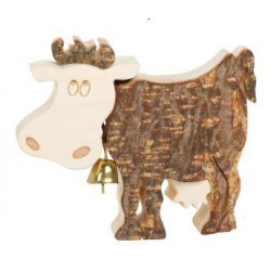 Cow from Bark wood