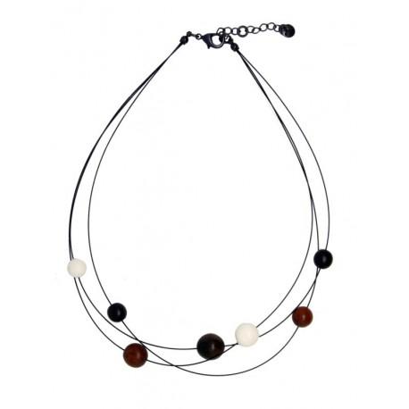 Necklace in dark wood