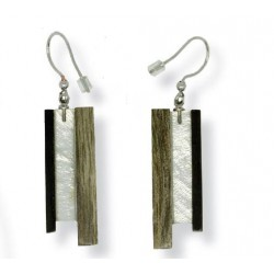 Earrings in wood Natural