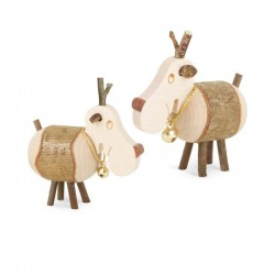 Reindeer wood with Bells 3 inches