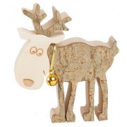 Reindeer in Bark wood