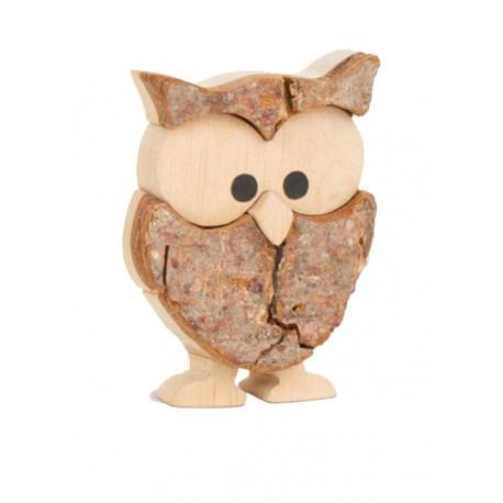 Owl in Bark wood