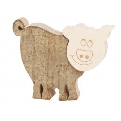 Pig in wood 2,5 inches