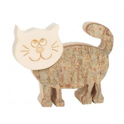 Rolling Cat in wood in 2,5 inches