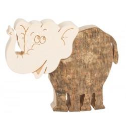 Elefant aus Holz 6,5 cm
