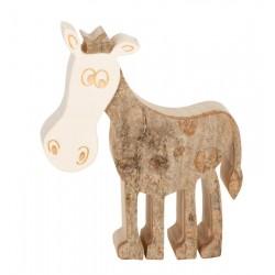 Pferd aus Holz 6,5 cm
