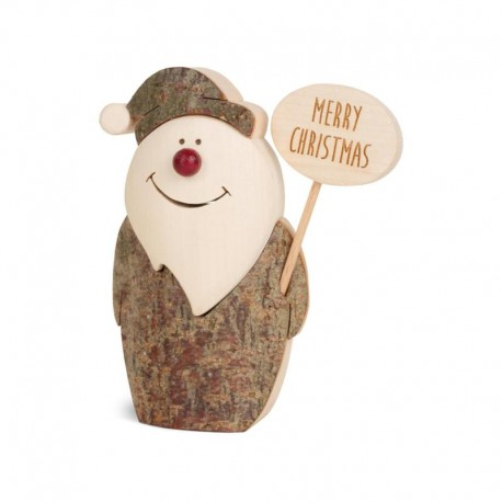 Santa Claus in wood in 5 inches