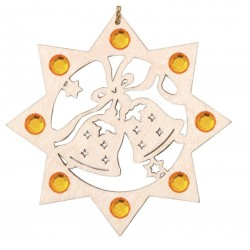 Two Bells with Swarovski Crystal - Dolfi Custom wood Ornaments - Made in Italy