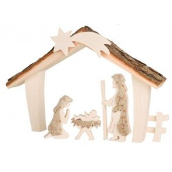 Holy Family with stable 17 cm