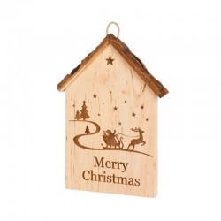 Merry Christmas Rindenhaus 18 cm