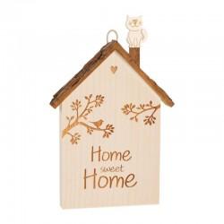 """Home sweet Home"" House mit Katze 20cm"