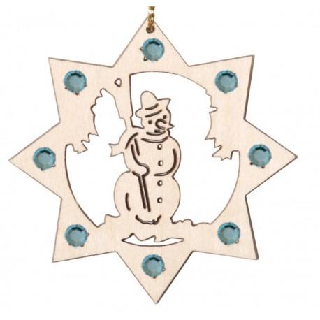 Addobbo pupazzo di neve con cristalli Swarovski