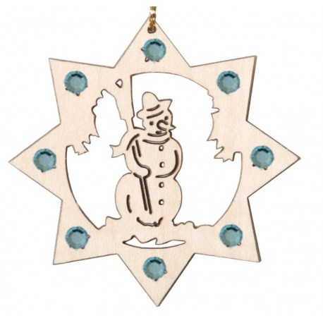 The Snowman Ornament with Swarovski Crystals