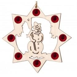 Der Schneemann mit Swarovski Kristallen