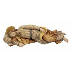 Schlafender Josef aus Holz - mehrfach gebeizt