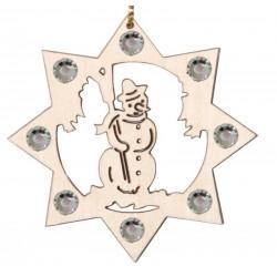 The Snowman with Swarovski crystall